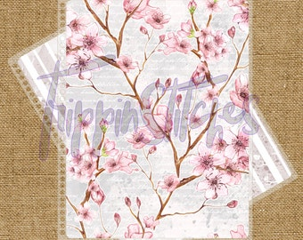 Cherry Blossom Custom Planner Cover for Erin Condren, Plum Paper Planner or Happy Planner