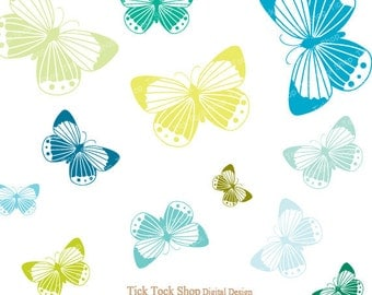 Colorful butterfly SET - (6 inch) Clip Art