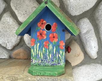 Birdhouse, Hand Painted Bird House Decorative Garden Art, Functional Birdhouses, Bird Supply, Item#BH87928