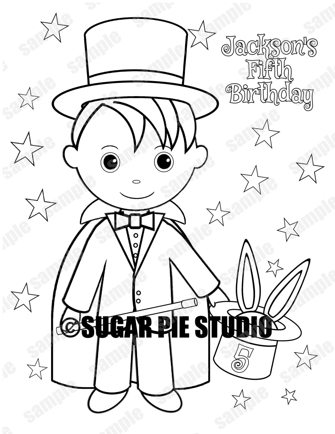 personalized printable magician magic show maze birthday party