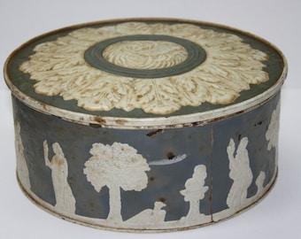 Fruit Cake Tin - Ward Baking Co New York - Paradise Fruit Cake - Aged - Vintage