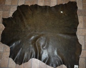 """Leather 41""""x32"""" Marbled Brown Distressed looking  Bomber Jacket 10.5 sq ft GOATSKIN 3 oz / 1.2 mm PeggySueAlso #104"""