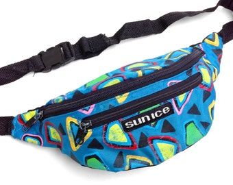Rare 80s Neon Sun Ice Memphis Design Style Fanny Pack - 24 to 36