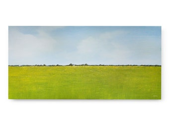 "Original Art, LARGE LANDSCAPE painting 24 X 48 ""A Day In May"""