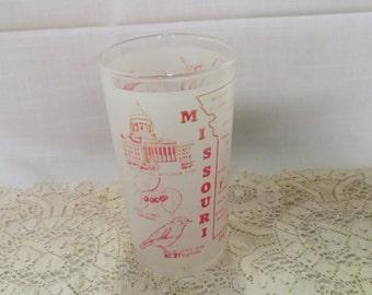 Missouri Souvenir Tumbler Glass The Show Me State Vintage Kitchenware Kitchen Ware