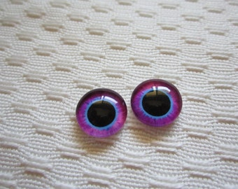 12mm Glass eyes for jewelry, crafts, sculpture and dolls