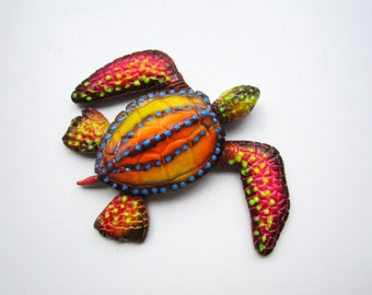 Turtle sculpture wall decor