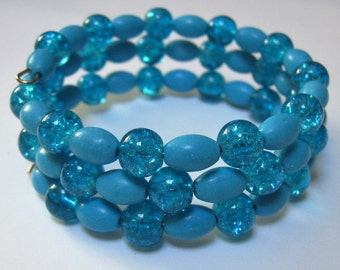 Totally Turquoise Beaded Bracelet on Memory Wire