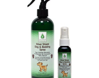 Silver Botanicals' Dog & Bedding Spray, All-Natural Colloidal Silver and Essential Oil-Based Dog Deodorizing, Pest Deterring, Hygiene Spray
