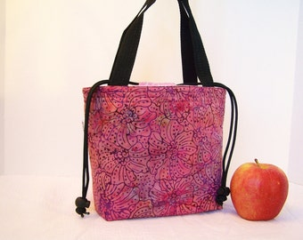 Lunchbag, lunch box, Drawstring Insulated lunch bag, BPA Free, Food safe Lunch Cooler