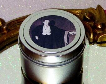 Bela Lugosi Count Dracula Soy Candle Transylvania Vampire Frankincense Valentine's Gift Horror Vintage Retro