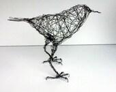 SHASTA - Life Sized Crow- Original Handmade Wire Bird Sculpture