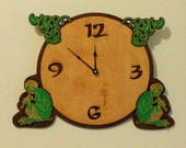 Wooden clock- 'Organic Pan'