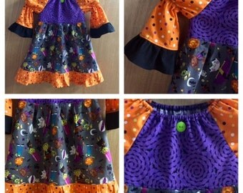 Halloween Peasant Style Dress, size 4t