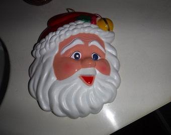 Santa Face light up decoration made by Tony