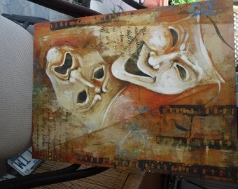 Comedy & Tragedy Art on Canvas