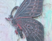 Solid Brass Casting of Butterfly, Wicked Sassy Patina