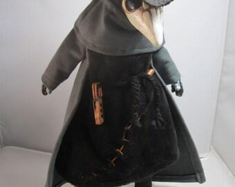 Grumpy Plague Doctor OOAK Artist Doll
