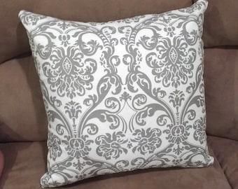 SERENITY Throw Pillow 18x18 inches Aqua Home Decor Gray Grey Black Decorative Pillow Cover Coordinating Home Decor Bananabunch Kimberly