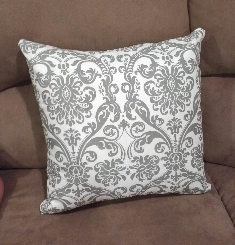 SERENITY Throw Pillow 18x18 inches Aqua Home Decor Gray Grey
