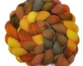 Hand Dyed roving - Cheviot wool spinning fiber - 4.1 ounces - Desert Journey 2