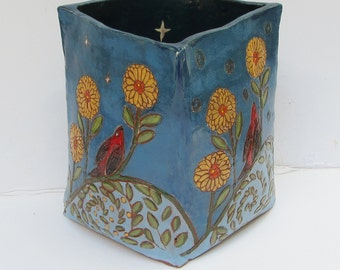 ceramics and pottery flower vase; ceramic vase; ceramic art;