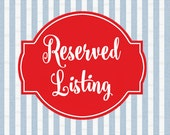 SHIP BY 8/9 - Reserved Listing for Amy