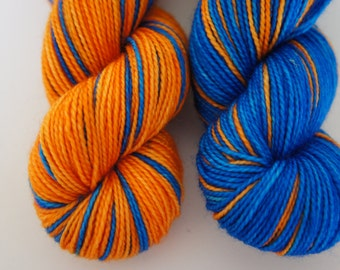 Rah Rah Sis Boom Bah...Twisted Sisters, Self Striping, 80/20 Superwash Fingering Sock Weight
