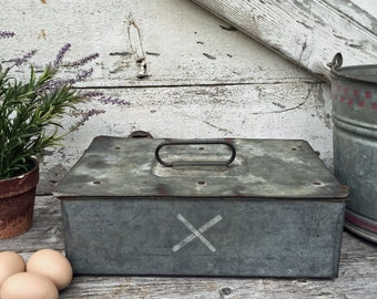 Galvanized Industrial Storage Box - Lock Box