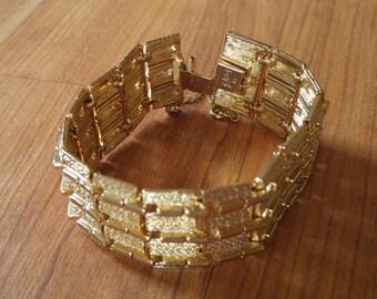 70s goldtone Coro link bracelet