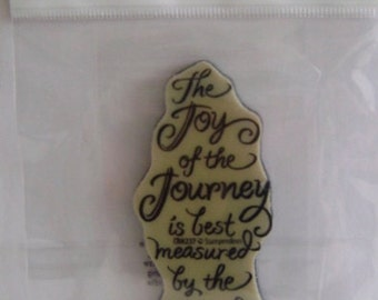 Joy of the Journey cling rubber stamp