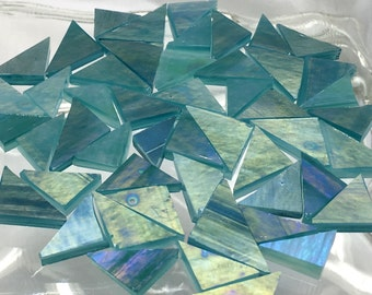 SPECIAL - LIMITED SUPPLY 50 Triangles Stained Glass Tile T18