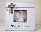 Godparents Gift Baptism Personalized Frame I Love My Godparents