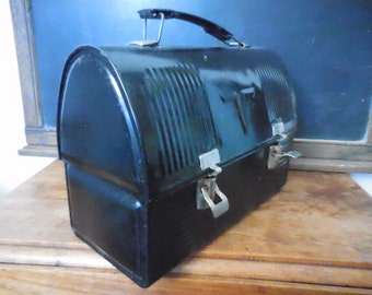 1950's Thermos Metal Lunch Box mid century vintage