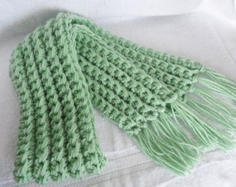 CROCHET SCARF LADIES  scarf With Fringe