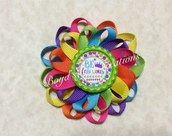 Be Fabulous loopy flower bow