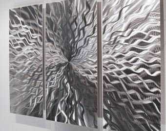 Silver wall art | Etsy