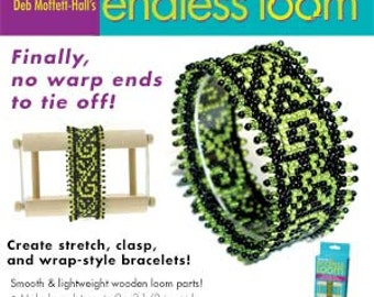 Endless Loom No Warp Threads Create stretch, clasp, and wrap-style bracelets Make bracelets up to 9 x 3-1/2 in. wide Jewelry Beading Tool