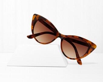 Mood Swing Cat Eye Sunglasses - Amber X American Deadstock Eyewear