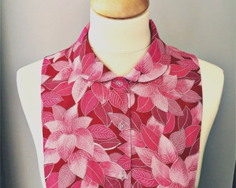 decorative shirt collar bib made from a piece of vintage kimono