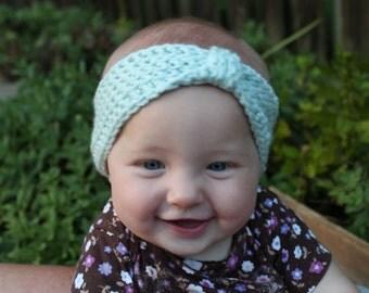 Crochet Baby Headband, Baby Crochet Earwarmer, Baby Crochet Head Wrap