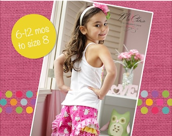 Iris' Frilly Shorts PDF Pattern Sizes 6-12m to 8 girls