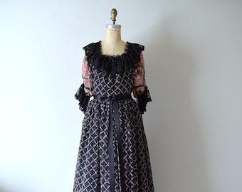 Vintage 1970s dress . Jean Varon . John Bates dress