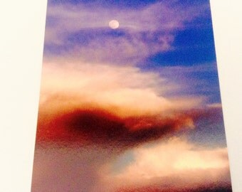 Moon Within The Clouds Photo Postcard