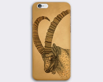 Goat phone case / Capricorn / Illustrated Zodiac phone case / iPhone 7 / 7 Plus / 6 / 6S / SE / 5 / 5S / Samsung Galaxy S7 / S6/S6 Edge / S5