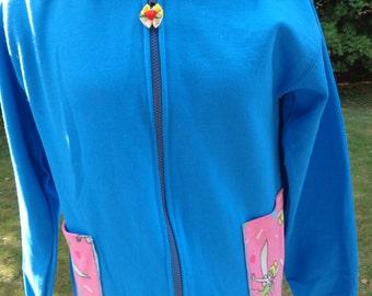 OOAK hoodie for Tinkerbell fans