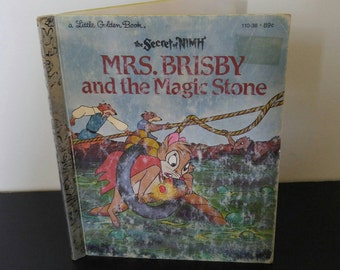 Vintage Children's Book - The Secret of Nimh Mrs. Brisby and the Magic Stone - 1982