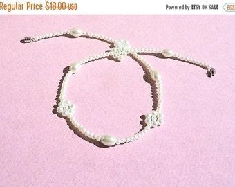 Clearance Sale Pearl Choker - Pearl Necklace - Barrel Clasp - Handmade