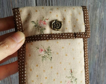 A retro floral printed folded wallet /gift under 20/handmade present