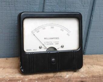 Industrial Meter - Steampunk Milliampers Meter